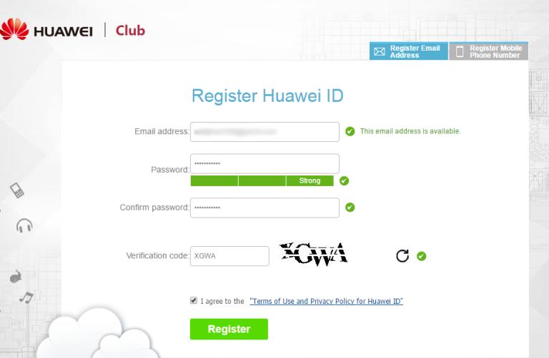 Register Huawei ID unlock bootloader