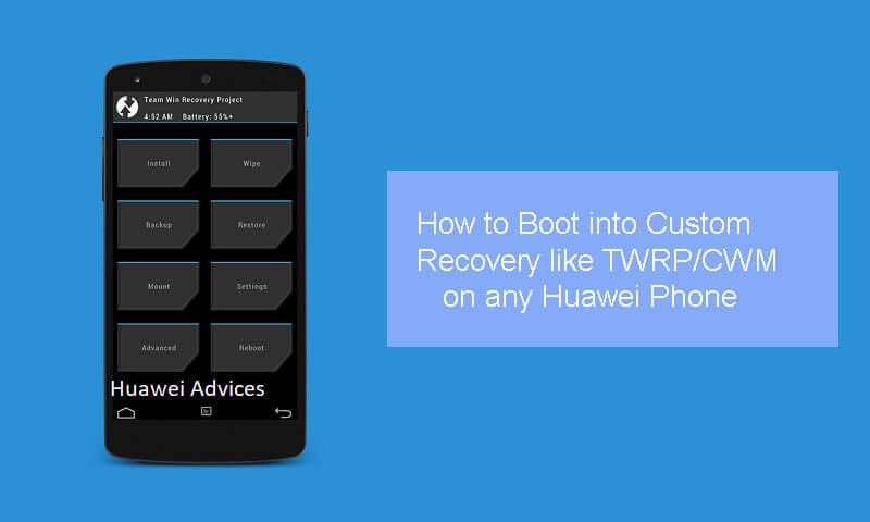 Boot into TWRP CWM Recovery on any Huawei Honor EMUI phone