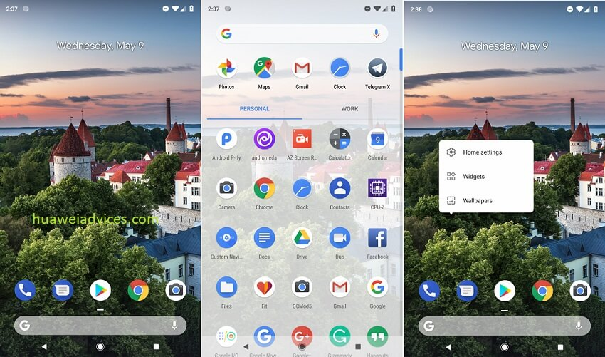 Download Android P Launcher APK for Huawei EMUI phones