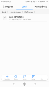 Download font on Huawei Honor phones 3