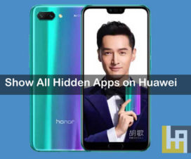 Show all hidden apps on Huawei Honor phones
