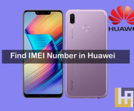 Find IMEI Number in Huawei Honor phones