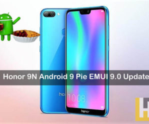 Honor 9N Android 9.0 Pie EMUI 9.0 update