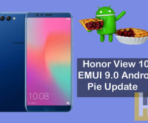 Honor View 10 Android Pie EMIUI 9.0 update