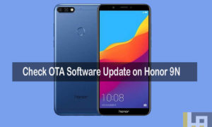 Check OTA software update Huawei Honor 9N