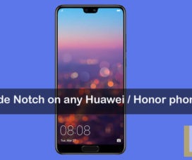Hide Notch Huawei