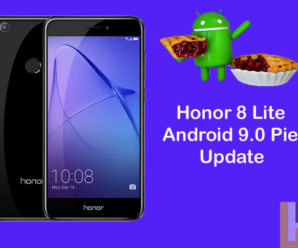 Honor 8 Lite Android 9.0 Pie Update