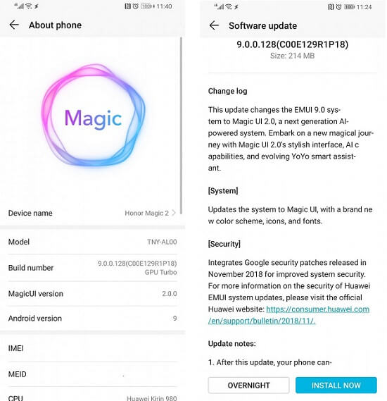 Honor Magic 2 Magic UI 2.0 download