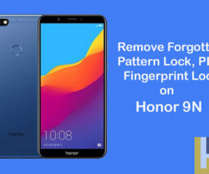 remove forgottern pattern Fingerprint lock Honor 9N