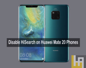 HiSearch on Huawei Mate 20 Pro Disable