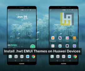 install .hwt EMUI 9 theme Huawei honor phones