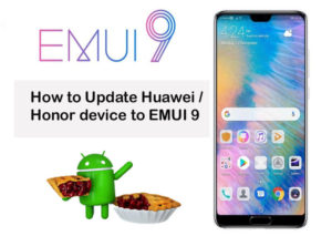 EMUI 9 update Huawei Honor device