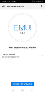 Huawei P20 Pro EMUI 9 Android Pie updates