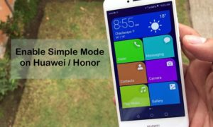 Simple mode Huawei Honor