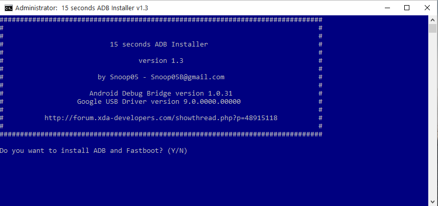 adb and fastboot tool setup