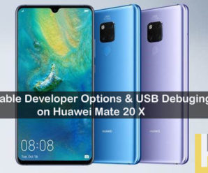 Enable USB Debugging Huawei Mate 20 X