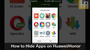 Hide Apps on Huawei Honor device