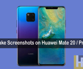 screenshots on Huawei Mate 20 Pro