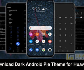dark android pie theme huawei emui