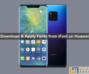 Change fonts on Huawei via iFont