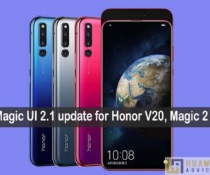 Honor Magic 2 V20 Magic UI 2.1 update
