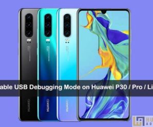 usb debugging on Huawei P30 Pro
