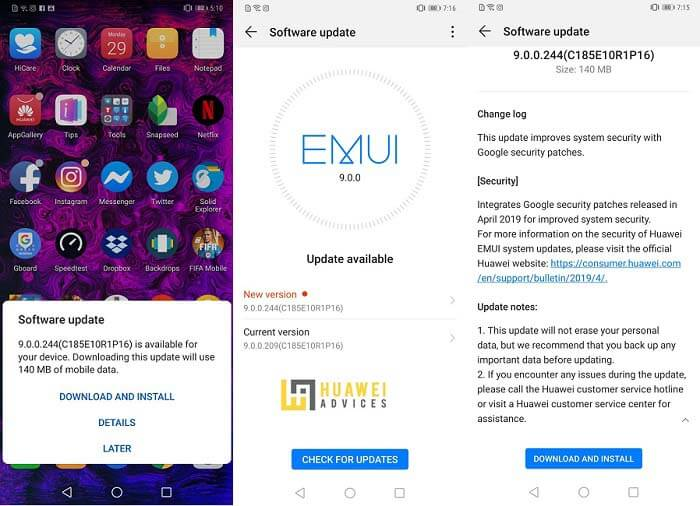 Huawei Mate 20 Pro EMUI 9 updates | Huawei Advices