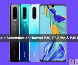 take Screenshot on Huawei P30 Pro