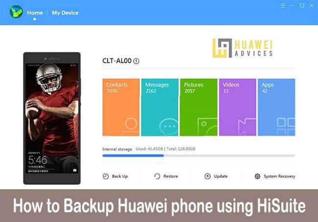 How to Backup Huawei phone using the HiSuite app | Huawei Advices