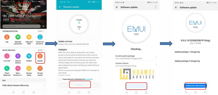 How to Update Huawei / Honor devices using HiCare App | Huawei Advices