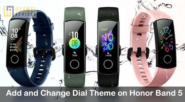 How to Add and Change Dial Theme on Honor Band 5 | Huawei