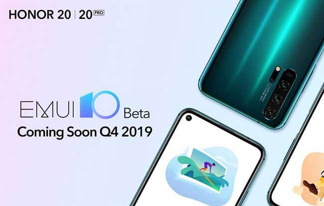 Honor 20, Honor 20 Pro, and Honor View 20 to get EMUI 10